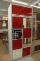 Подъемная кровать с фасадом декорированным зеркалами